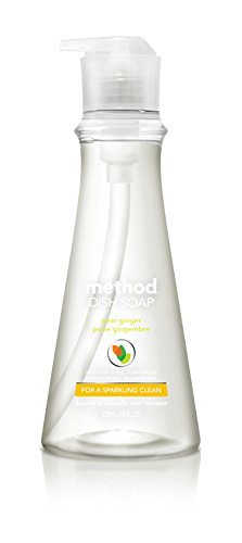 Ginger Pear - Method Naturally Derived Dish Soap Pump, Pear Ginger, 18 Ounce (6 Count)