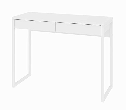 Tvilum 80122uu Walker 2 Drawer Desk, White High Gloss