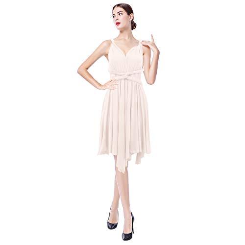 28def46167 Women Transformer Infinity Multi Way Wrap Bandage Dress Convertible  Bridesmaid Gown
