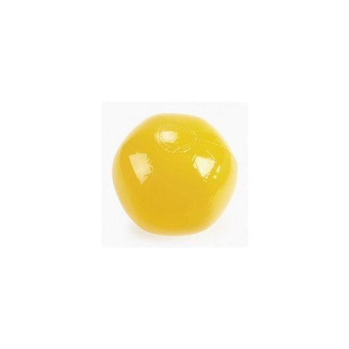 YELLOW BEACH BALL 14'' (1 DOZEN) - BULK