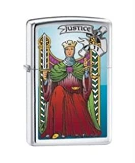 1729 Zippo Tarot Card-Death XIII Brushed Chrome Lighter