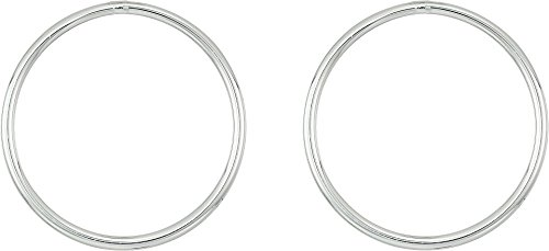 LAUREN Ralph Lauren Women's Modern Metal Circular Posted Hoop Earrings Silver One Size