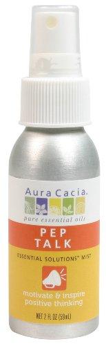 Aura Cacia Essential Solutions Mist, Pep Talk, 2 Fluid ()
