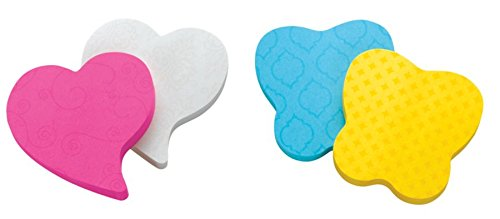 Post-it Super Sticky Notes, 3 in x 3 in, Heart Shape, Assorted Colors, 75 Sheets/Pad, 2 Pads/Pack (7350-T-HRT)