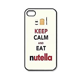 Mini - Keep Calm AND EAT Nutella Pattern Plastic Hard Case for iPhone 4/4S