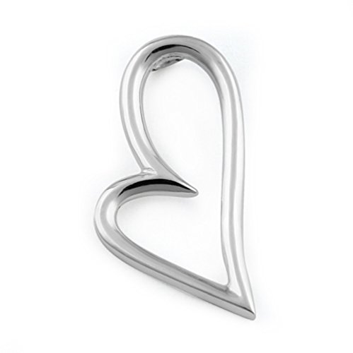 Sterling Silver Valentine Artistic Love and Passionate Heart Chain Necklace (Pendent)