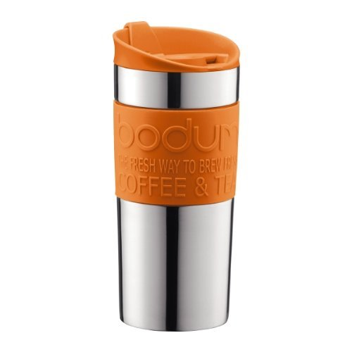 Bodum - Travel mug - Stainless Steel - Orange - 0.35 l, 12 oz Bodum Stainless Steel Travel Mug