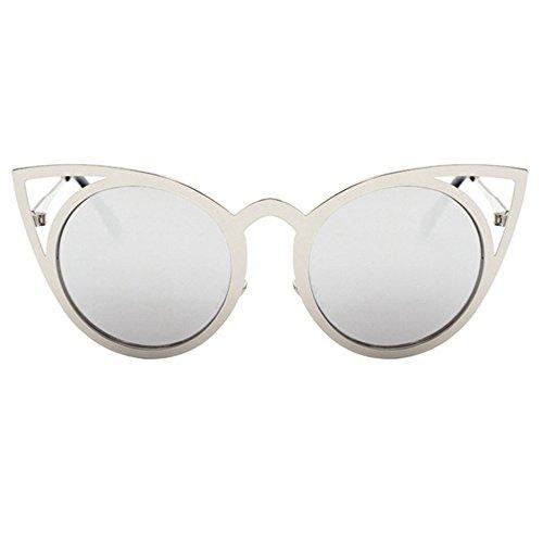 Aoligei Lunettes de soleil mode lunettes de soleil métal rond côté fleur couleur tendance lunettes de soleil rétro z1SqL0wk4