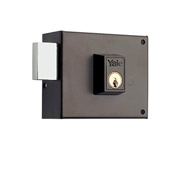 100 mm 125R100DHP Yale 125R // Derecha Hierro Pintado Cerradura de Sobreponer Est/ándar