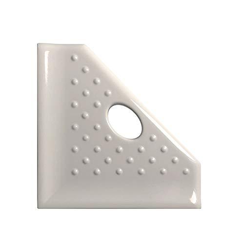 Questech Geo Corner Shelf 5 inch Foot Rest for Shaving or Shower Caddy | Wall Mounted Shower Corner Shelf (Almond Polished)