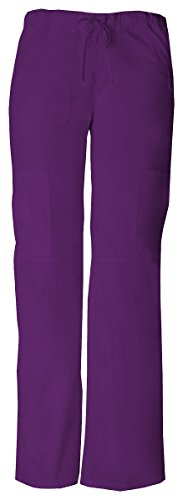Dickies Women's EDS Signature Low Rise Drawstring Cargo Pant, Eggplant, Medium ()