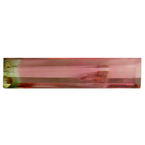 0.76 ct OCTAGON (13 X 3 MM) BRAZILIAN BI-COLOR TOURMALINE LOOSE GEMSTONE Bi Color Tourmaline Gem