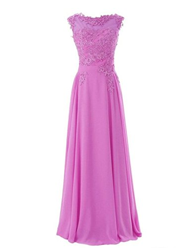 Women's Floor Length Appliques Bridesmaid Formal Chiffon Evening Gowns by frose