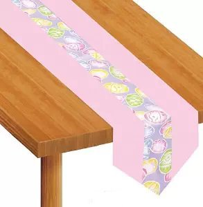 Easter Eggs Fabric Table Runner Party Accessory