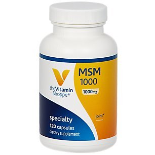 The Vitamin Shoppe MSM 1,000 (1,000MG) (Methylsulfonylmethane), Supports Joint Health Function (120 Capsules)