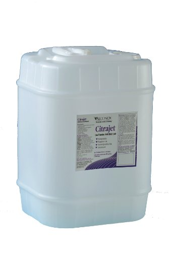 Alconox 2005 Citrajet Low-Foaming Phosphate-Free Concentrated Liquid Cleaner and Metal Brightener, 5 gallon Jerrycan by Alconox