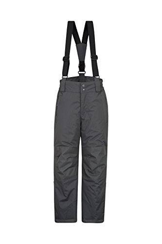 Mountain Warehouse Raptor Kids Snow Pants - Detachable Suspenders Dark Grey 9-10 Years by Mountain Warehouse