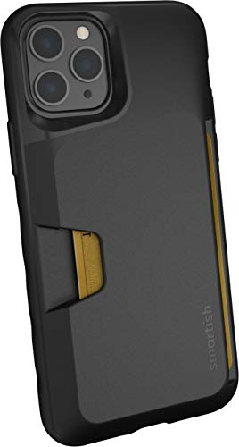 Smartish iPhone 11 Pro Wallet Case - Wallet Slayer Vol. 1 [Slim + Protective] Credit Card Holder (Silk) - Black Tie Affair