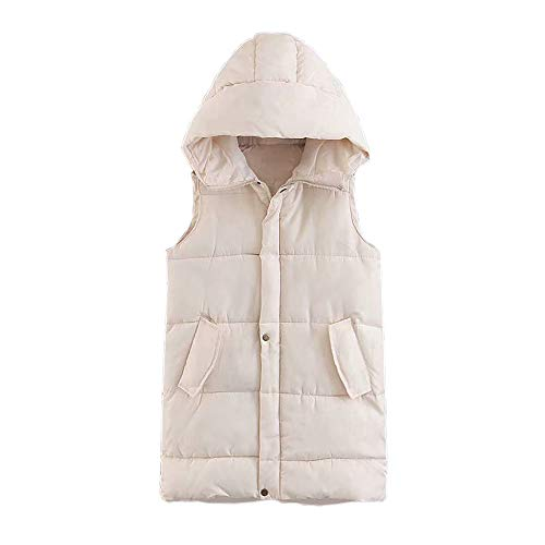 fashion Down Womens Da Alla Pocket Outdoor Donna Jacket Coat Hooded Vest Bianca Giacca Moda FwIfpFq