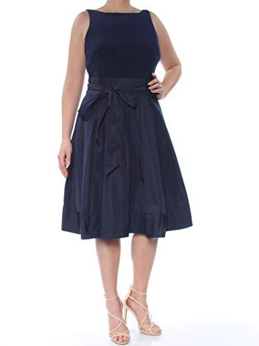 LAUREN RALPH LAUREN Womens Sleeveless Party Evening Dress Navy 12