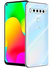 """TCL 10L, Unlocked Android Smartphone with 6.53"""" FHD + LCD Display, 48MP Quad Rear Camera System, 64GB+6GB RAM, 4000mAh Battery - Arctic White"""