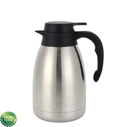 51 Ounce Double Wall Vacuum Thermos Insulated Stainless Steel Carafe Coffee Dispenser 1.5 Liters (6-12 Hour Heat & Cold Retention)