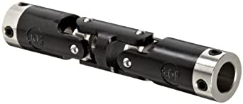 """Boston Gear JPD373/16 Universal Joint, Double, Molded, 0.188"""" Bore, 0.520"""" Bore Depth, 2.000"""" Length, 0.375"""" Outside Diameter, 7 ft/lbs Max Torque, Delrin"""