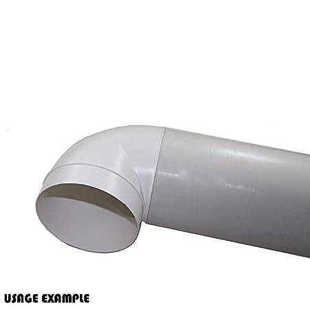 color blanco Rejilla de ventilaci/ón de 100 mm con solapas de gravedad