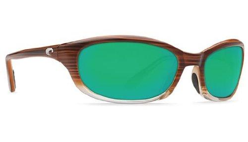 Costa Del Mar Sunglasses - Harpoon- Glass / Frame: Wood Fade Lens: Polarized Green Mirror Wave 400 - Costa Sunglasses Harpoon