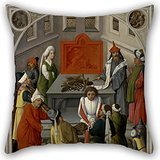 [16 X 16 Inches / 40 By 40 Cm Oil Painting Master Of The Gathering Of The Manna - The Offering Of The Jews Cushion Covers,double Sides Is Fit For Bedroom,car Seat,bf,dance] (Bear Jew Costume)