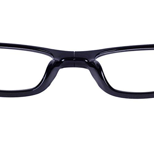 QIXU Magnetiques Lunettes de Lecture Presbyte 3.5 pour Homme et Femme  Aimantées Lunettes pour Lire Pliables Régables Monture Noir Lens  Transparentes ... 9e9477a24de8