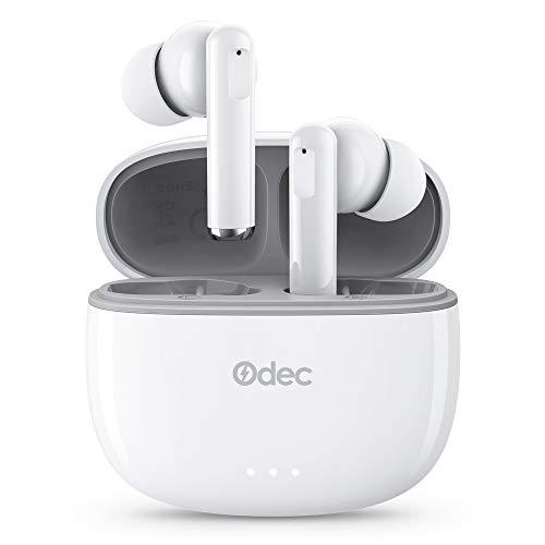 Odec Auriculares Inalámbricos, Auriculares Bluetooth 5 Sonido Estéreo, Reproducci 20 Horas, Estéreo internos con indicador de batería, Micrófono Incorporado, Control Táctil, IPX5 a buen precio