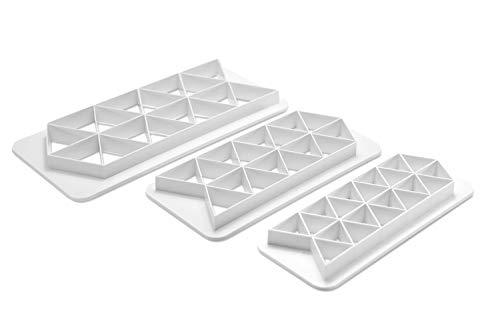 Ateco 5723 Geometric Fondant Cutters, 3 Piece Set, Triangle