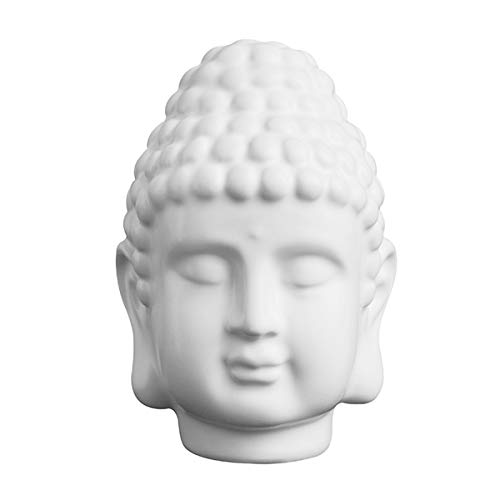 Kiartten Buddha Statue - India Buddha Head Statue Sculptures Buddha Statue Resin Sakyamuni Tathagata Figurine Mahogany Crafts Decor Ornament Figurine ()