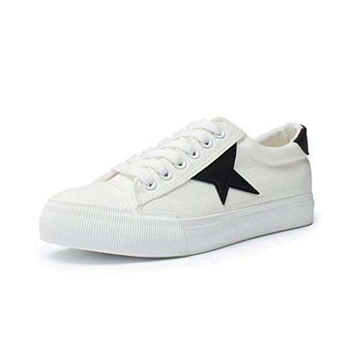 Beiläufige und bequeme flache Segeltuch-Schuhe Breathable niedrige Schuhe einfache Art- und Weisespitze-Schuhe ( Farbe : Schwarz , größe : 36 ) Schwarz