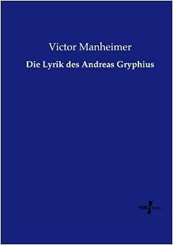Book Die Lyrik des Andreas Gryphius