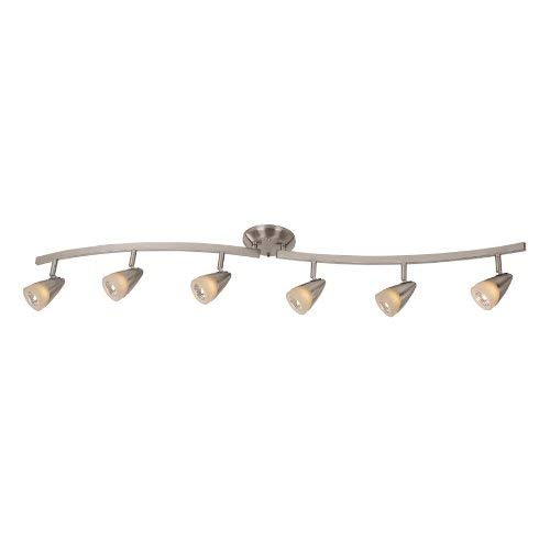 Catalina Lighitng Aria 6-Light 45.2'' Brushed Steel Dimmable Fixed, Track Light Kit, Bulbs Included, 17319-000