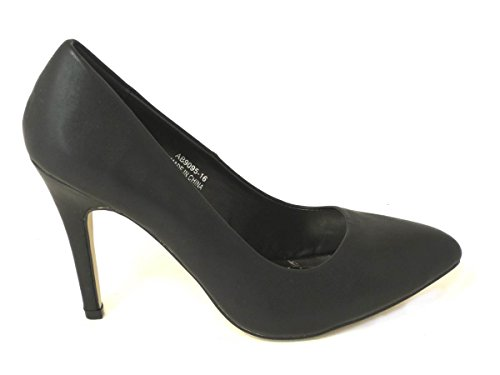 Sexyca Womens Mens HIGH Stiletto Heel Fetish Going Out Court Shoes Large Sizes 3-12 Black Matt (9095-16) 2iP6m