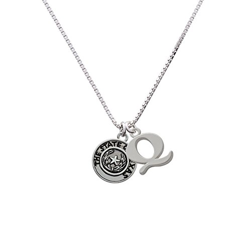 Texas Seal Jewelry Pendant (Texas State Seal - Capital -Q- Initial Necklace)