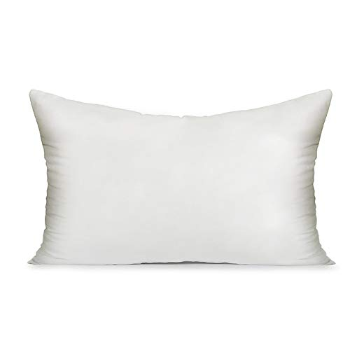 (MIULEE 12x20 Pillow Inserts Soft Square Throw Pillow Form Inserts Premium White Sham Stuffer)