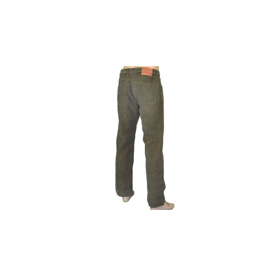 Lucky Brand Jeans Mens Corduroy Cord Pants Olive Green