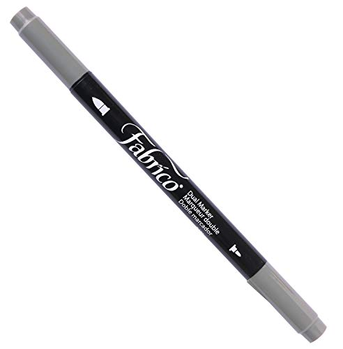 Tsukineko Dual-Ended Fabrico Marker Color-Fast, Cool Gray