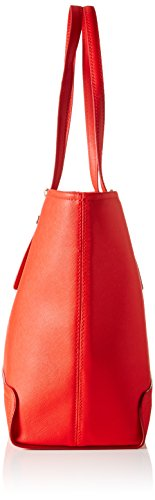 Tommy Hilfiger Honey Medium Tote Solid - Bolsos totes Mujer Rojo (Fiery Red)