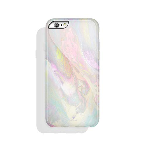 iPhone 6/6s case Marble, Akna Collection High Impact Flexible Silicon Case for Both iPhone 6 & iPhone 6s [Colorful Psychedelic] (814-U.S) (Mercedes Iphone6 Case)