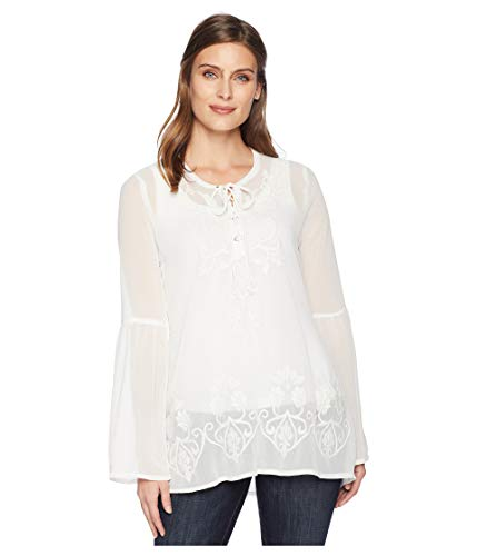 Roper Women's 2170 Georgette Peasant White - Embroidered Shirt Roper