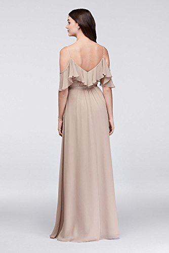 Chiffon Tickled Bridesmaid Crinkle David's Shoulder Cold Dress Bridal Style F19508 vnCqHCwzR