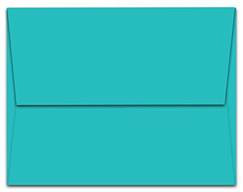 """40 Aqua Blue Ocean A7 Envelopes - 7.25"""" x 5.25"""" - Square Flap"""