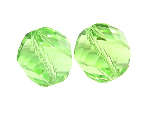 50 6mm Adabele Austrian Helix Crystal Beads Peridot Green Compatible with Swarovski Preciosa Crystals 5020 SSH-616