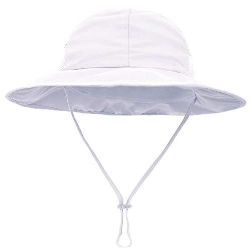 SimpliKids Baby Sun Hat UPF 50+ Sun Protection Wide Brim Kids Sun Hat White