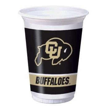 Creative Converting University of Colorado Buffaloes Printed 20 Oz. Plastic Cups (8 Count)